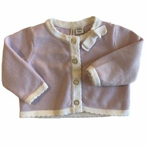 Janie and Jack Cardigan Bow Sweater 0-3mo